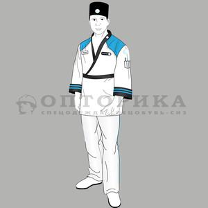 Эскиз костюма для суши-повара