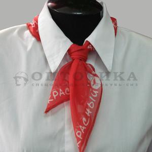 """Блузка и шарфик """"Красный куб"""""""