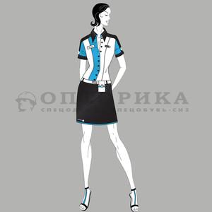 Эскиз женской корпоративной одежды